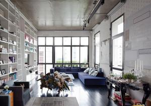 141平米后现代风格客厅书架设计效果图赏析