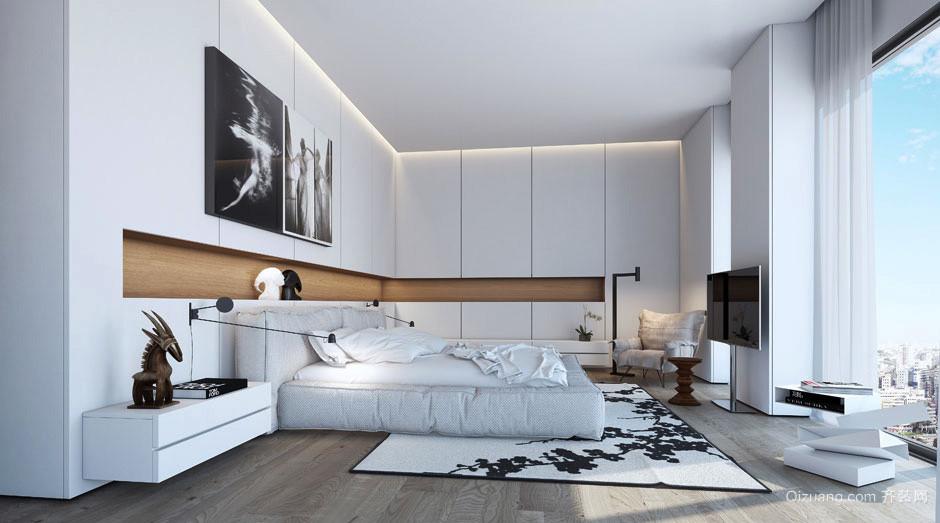 后現代極簡主義風格三室一廳室內裝修效果圖