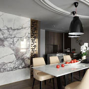 100平米后现代风格大理石餐厅背景墙设计效果图