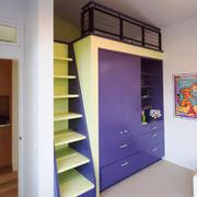 120平米简欧风格儿童房整体衣柜设计效果图
