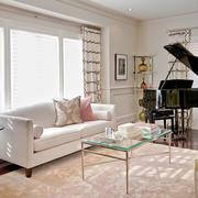 简欧风格二居室客厅窗帘设计效果图鉴赏