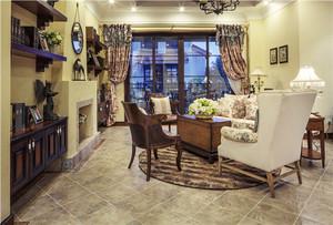 美式田园风格别墅室内整体装修效果图赏析