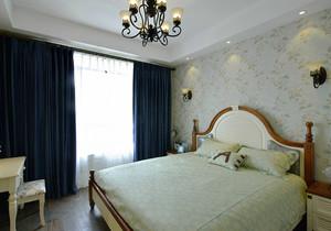 29平米美式田园风格卧室墙纸装修效果图赏析