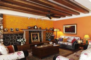 156平米欧式混搭风格大户型室内装修效果图