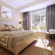 26平米简约风格卧室窗帘设计效果图鉴赏