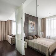 132平米现代简约风格卧室隔断设计效果图