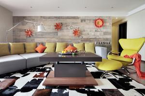140平米现代简约风格两室两厅一卫装修效果图