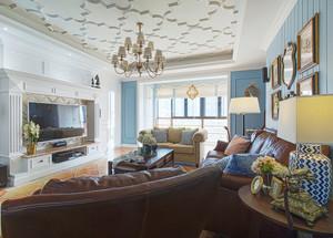 现代美式风格四室两厅室内装修效果图