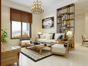 现代中式风格小户型室内装修效果图鉴赏