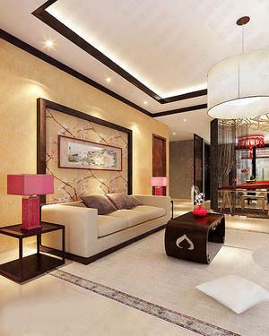 新中式风格大户型室内整体装修效果图鉴赏