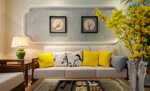 新中式风格两室两厅室内装修效果图