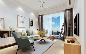 100平米宜家风格客厅沙发背景墙设计效果图