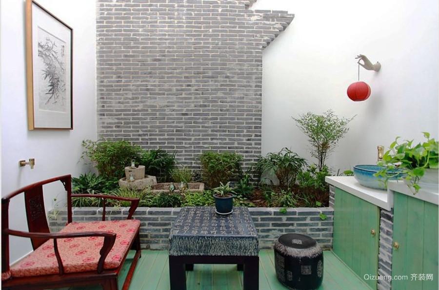 中式风格别墅入户花园装修效果图鉴赏