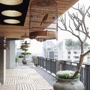 中式风格别墅阳台装修设计效果图赏析