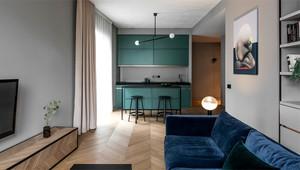 50平米北欧风格单身公寓室内整体装修效果图鉴赏
