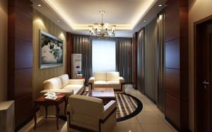 70平米欧式风格会客厅装修效果图鉴赏
