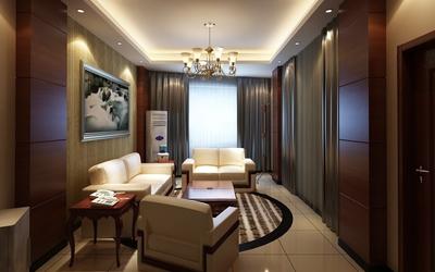 70平米歐式風格會客廳裝修效果圖鑒賞