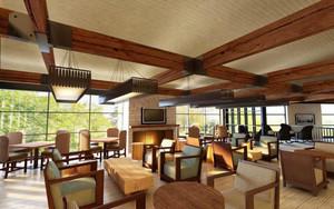 205平米东南亚风格咖啡厅装修设计效果图