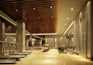 187平米现代风格健身房设计装修效果图