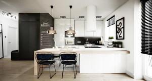 北欧风格小户型整体厨房装修设计效果图赏析