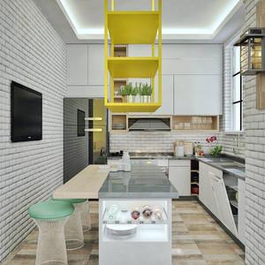 北欧风格小户型开放式厨房装修效果图鉴赏图片