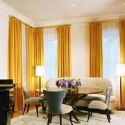 25平米现代美式风格餐厅窗帘设计效果图赏析