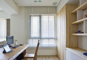90平米日式风格小书房百叶窗装修设计效果图赏析