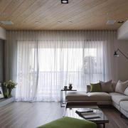 宜家风格三居室客厅窗帘装修效果图鉴赏