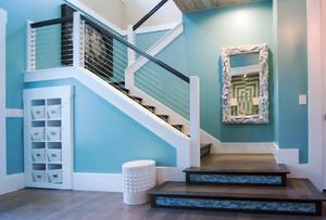 地中海风格复式楼楼梯设计装修效果图赏析