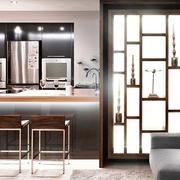 110平米后现代风格厨房客厅隔断设计效果图鉴赏