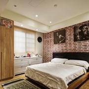 28平米后现代风格卧室背景墙设计效果图赏析