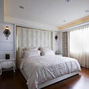 29平米欧式风格卧室窗帘设计效果图赏析