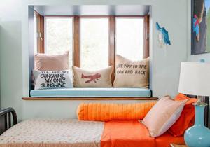 16平米简欧风格小卧室飘窗装修设计效果图