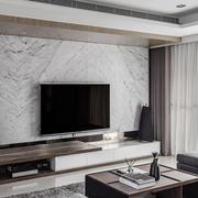 120平米现代风格客厅大理石电视背景墙设计效果图