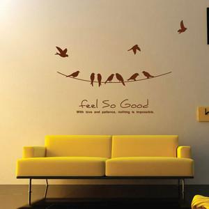 现代简约风格小户型客厅创意墙贴设计效果图