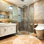 15平米简欧风格卫生间淋浴房装修效果图