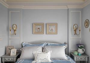 80平米简欧风格卧室背景墙设计效果图赏析