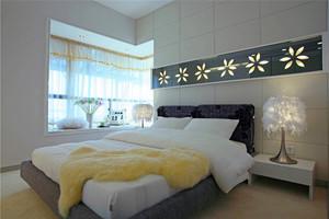 33平米现代简约风格卧室飘窗装修设计效果图