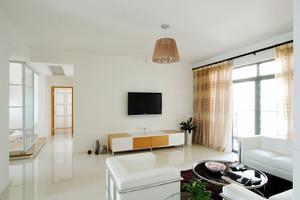 100平米现代简约风格客厅窗帘设计效果图