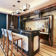 140平米新古典主义风格酒柜设计装修效果图