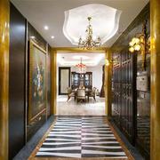 新古典主义风格别墅过道走廊吊顶装修效果图
