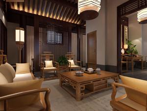 中式风格大户型室内整体装修效果图赏析