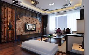 中式风格二居室客厅装修设计效果图