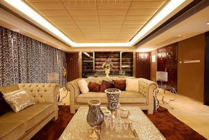 141平米欧式风格两室两厅室内装修效果图鉴赏