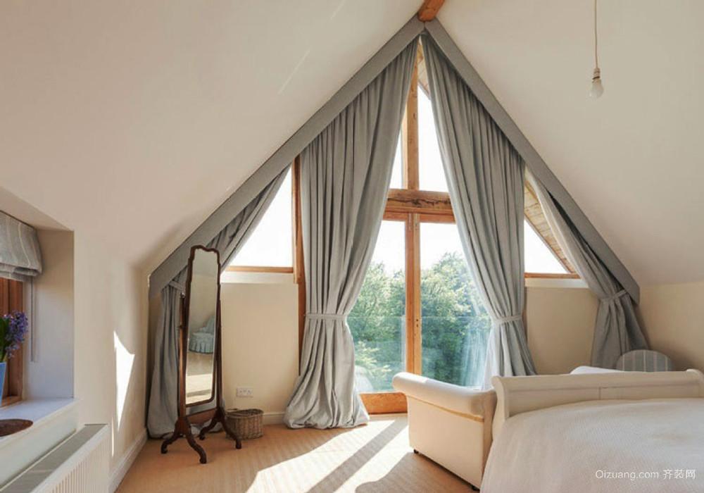 北欧风格别墅室内斜顶阁楼装修效果图