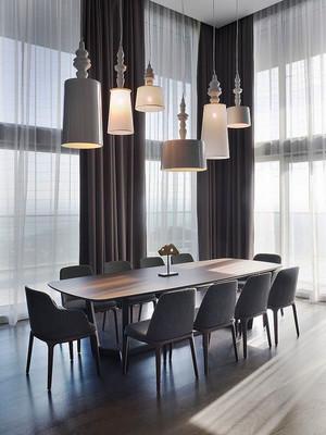 后现代风格餐厅吊灯设计装修效果图