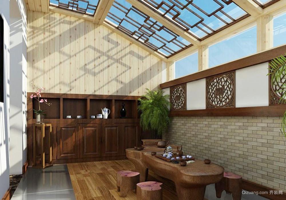 东南亚风格大户型入户花园设计装修效果图