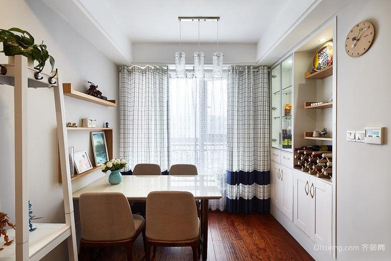 小户型现代简约风格餐厅窗帘设计装修效果图
