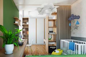 小清新风格小户型室内儿童卧室装修效果图