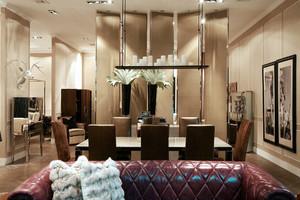 后现代风格大户型室内餐厅吊灯装修效果图